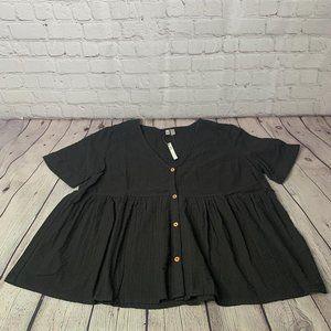 Asos Women's Black Shirt